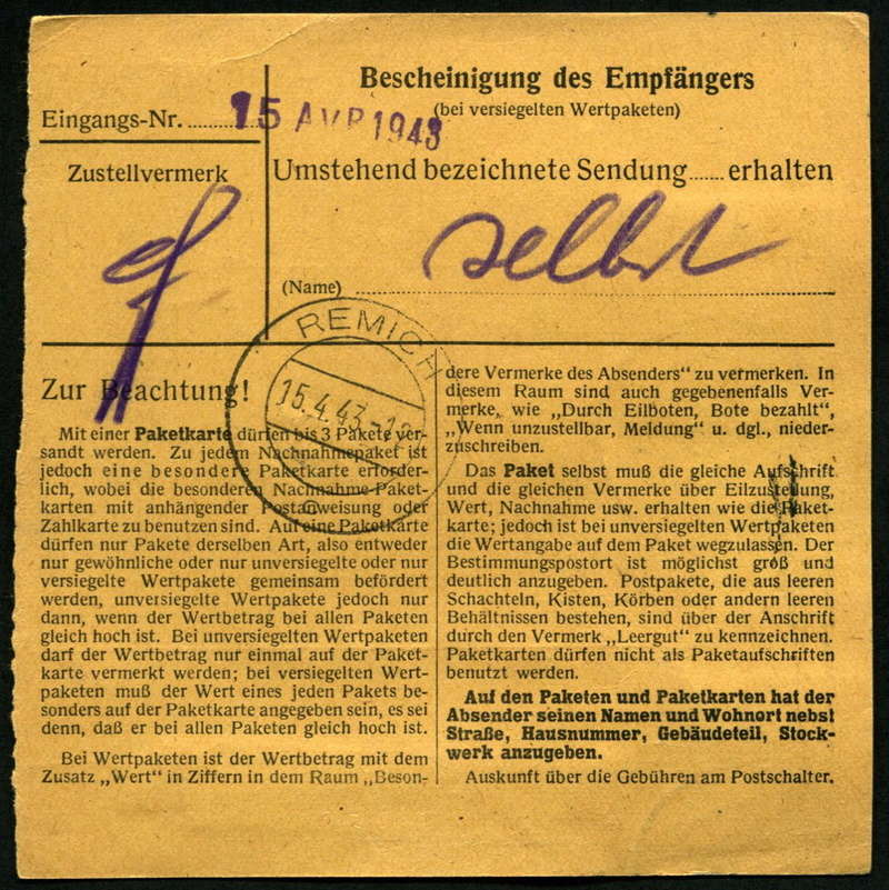 litauen - Deutsche Besetzungsausgaben im II. Weltkrieg - Seite 8 Paketk11