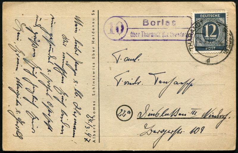 Ostsachsen (OPD Dresden) -Sowjetische Besatzungszone- - Seite 14 Postst18