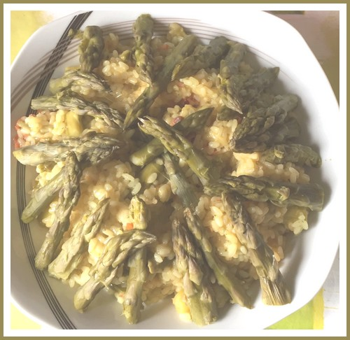 Risotto asperges vertes,chorizo Risott10