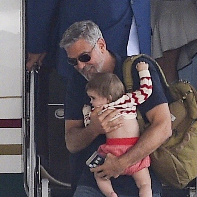 George and Amal arrive in Sardinia  Celebr12