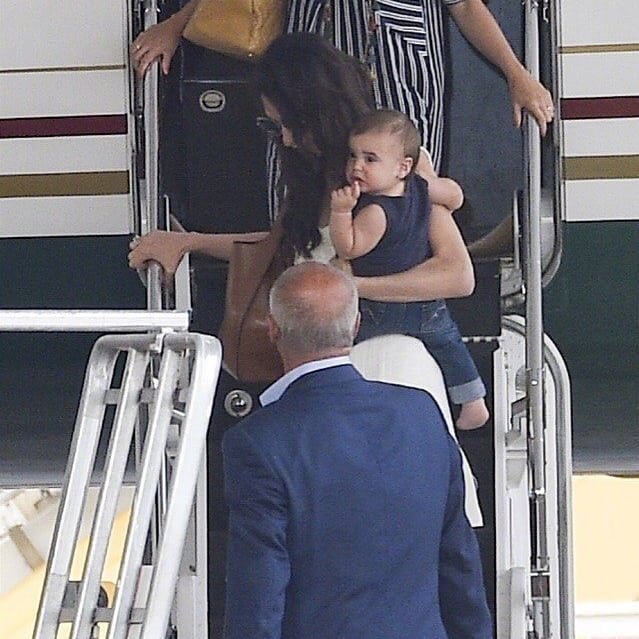 George and Amal arrive in Sardinia  Celebr14