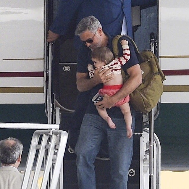 George and Amal arrive in Sardinia  Celebr15