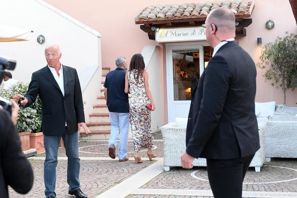 George and Amal out for dinner in Sardinia (2) Mr_mrs13