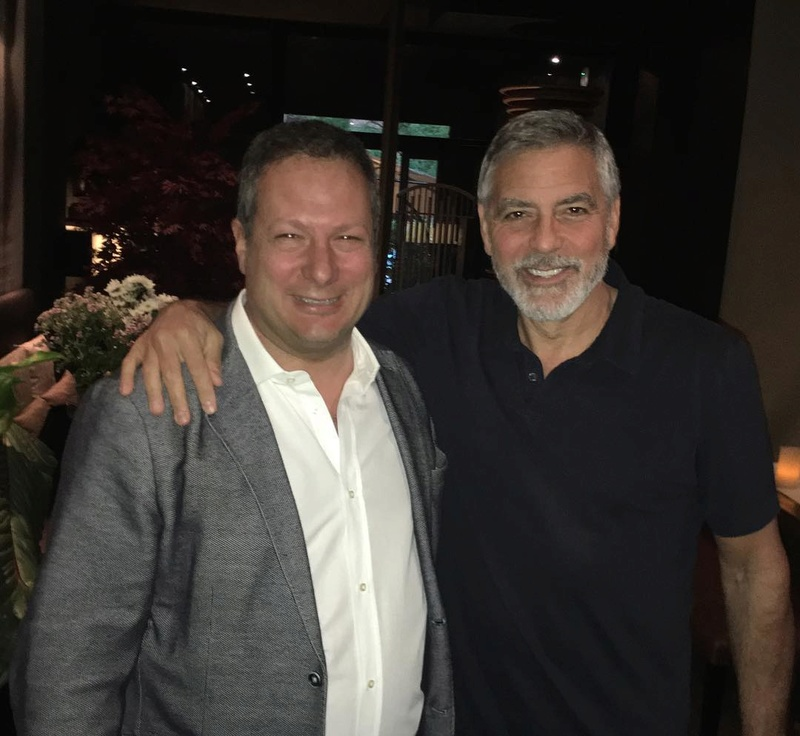 George Clooney at Soma restaurant, Rome Somore10