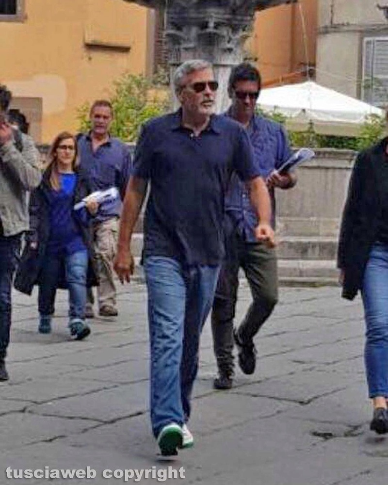 George Clooney back in Viterbo, Italy - 10 May Tuscia10