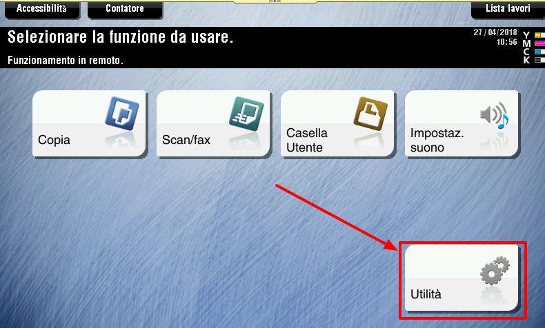 Come vedere IP, numero seriale e versione della stampante Konica Minolta G110
