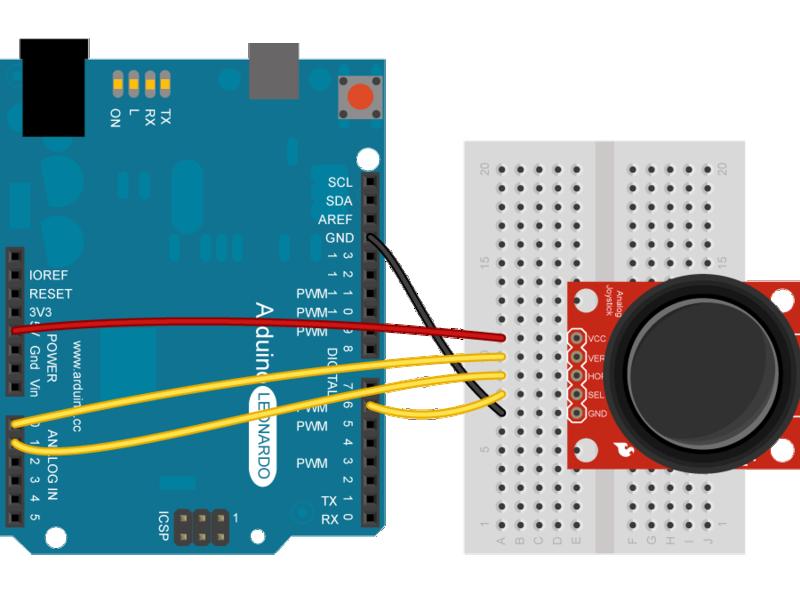 Come controllare un joystick con Arduino - Codice & Circuito Joysti10