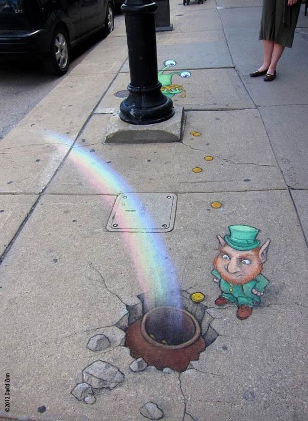 David Zinn - Street Art poétique Chalk-29