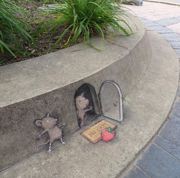 David Zinn - Street Art poétique Secret13