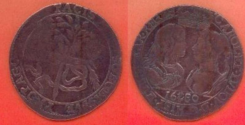 Jeton mariage Charles II d'Espagne et de Marie-Louise d'Orléans (1680) ... 1210