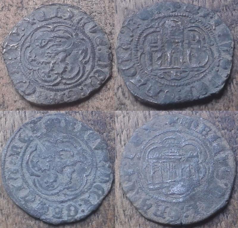Blanc de Enrique III, roi de Castille & León (1379-1406), atelier de Burgos ... Bb10
