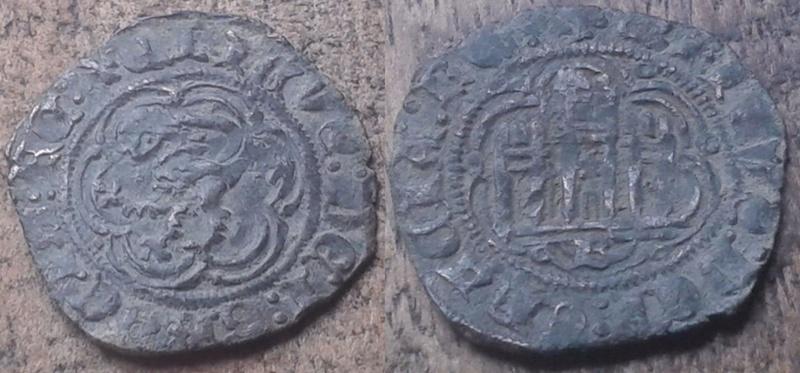 Blanc de Enrique III, roi de Castille & León (1379-1406), atelier de Burgos ... Chatea10