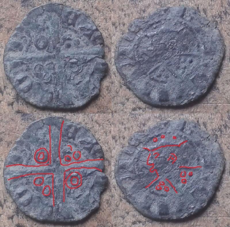 Denier du Royaume d'Aragon pour Jacques II (1291-1327) ... Nn10
