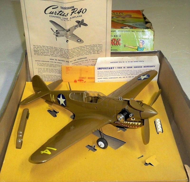 Cox P-40 and Testors P-40 40-610