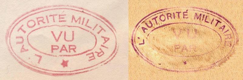 Lettre de Chandernagor de juillet 1945 ouverte par l'autorité militaire Ax311