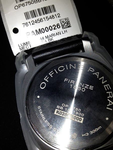 Vends PAM 026 never worn private collection Pam_0211