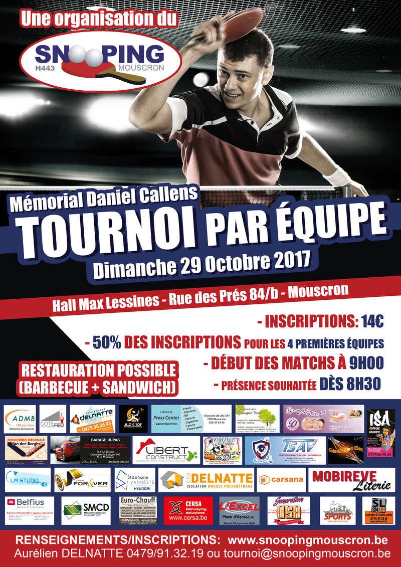 Tournoi par équipe - Snooping Mouscron - 29/10/17 Affich10