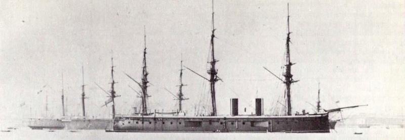 Les premiers cuirassés britanniques 1860-1889 1_hms_10