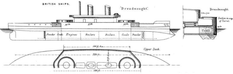 Les premiers cuirassés britanniques 1860-1889 Hms_dr10