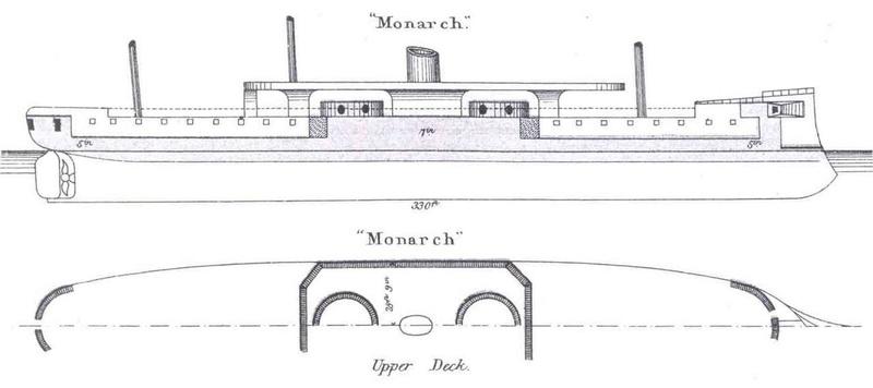 Les premiers cuirassés britanniques 1860-1889 Monarc12