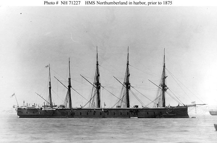 Les premiers cuirassés britanniques 1860-1889 Northu10