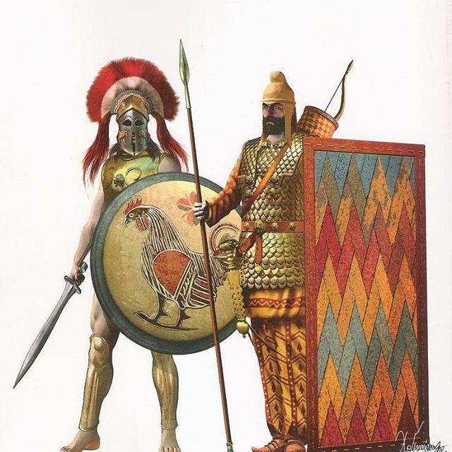 Sparte et Perses aux Thermopyles ( par GIAMILOS ET BONO) TERMINÉ 12976410
