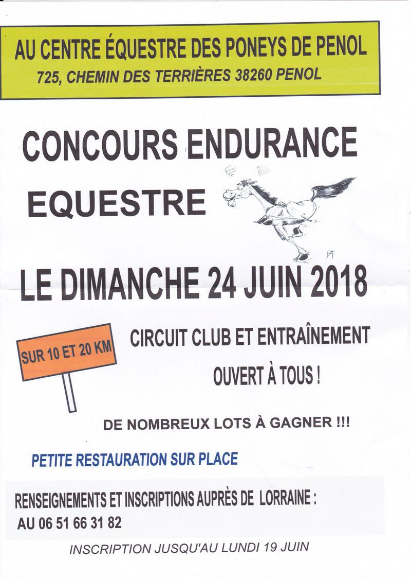 endurance equestre penol 10 et 20 km club et entrainement Affich10