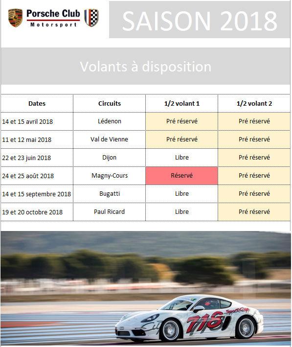 Club Porsche Motorsport - Saison 2018 Saison10