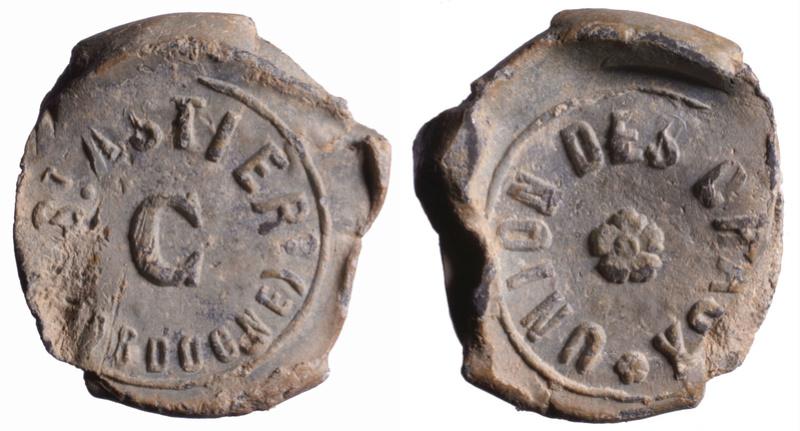 """Dordogne - Plombs de scelle """"Union Chaux - Saint Astier"""". D260210"""