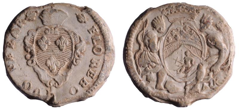 Compagnie des Indes, plomb circulaire à tunnel 1749-1769 D403210