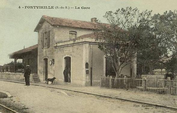 j) Compagnie des chemins de fer régionaux des Bouches du Rhône 1882 à 1906 gare de Fontvieille D7706a10