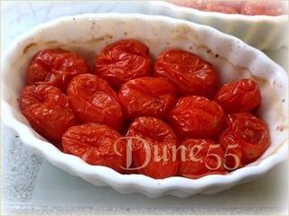 Tatin de tomates, avec tapenade d'olives vertes et tomates séchées 45012