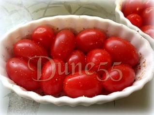 Tatin de tomates, avec tapenade d'olives vertes et tomates séchées Ozpkby10