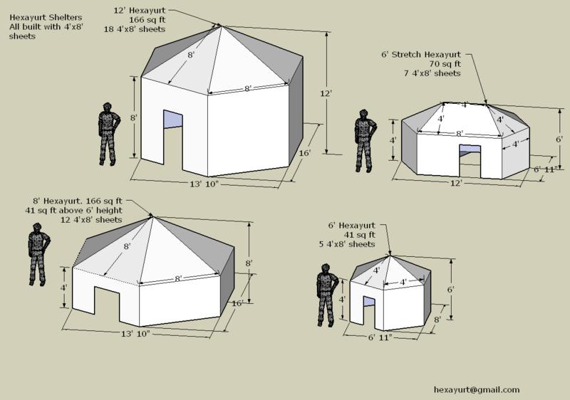 Hexayourte : un abri économique et tout-temps pour 6 personnes 800px-10