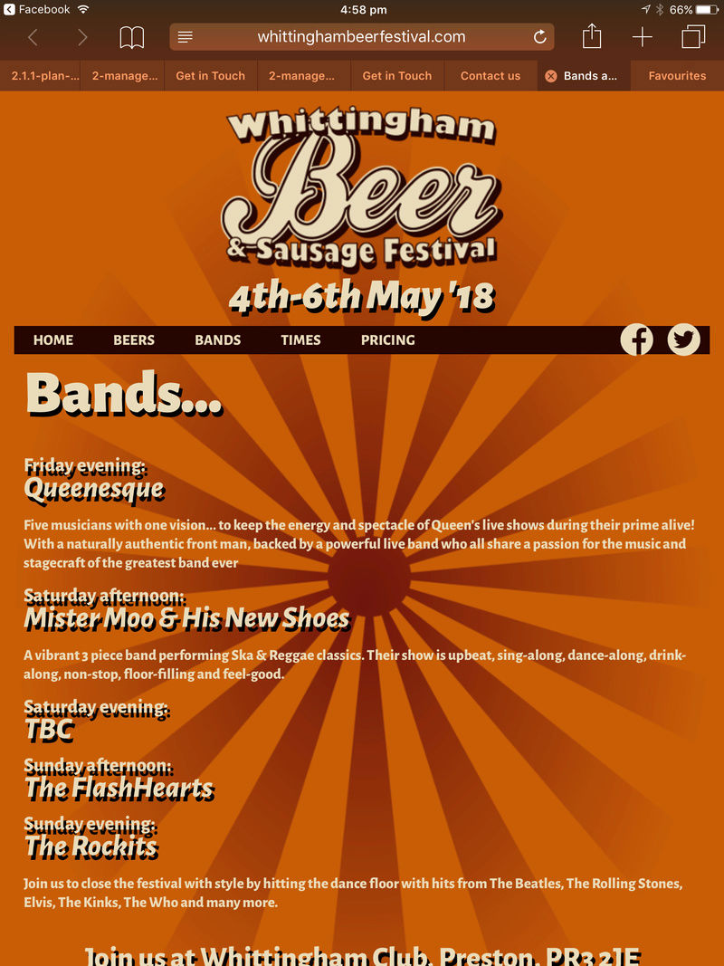 2. Whittingham Beer Festival 3rd to 8th May 2018 Img_7510