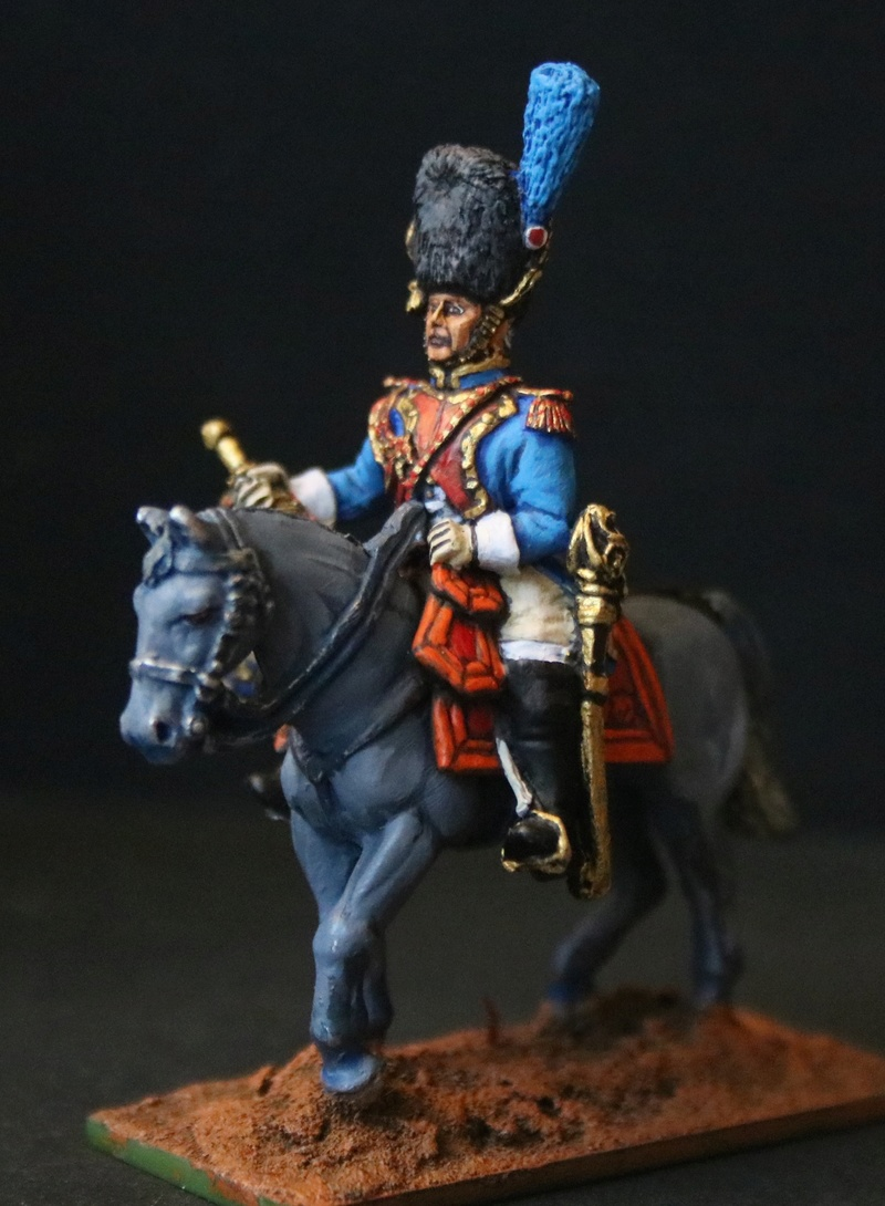 Trompette des grenadiers à Cheval (28mm Front Rank) Img_1119