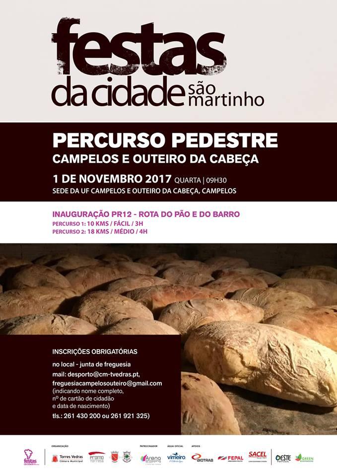 Rota - 2017/11/01 - Inauguração do Percurso Pedestre PR12 TVD - Rota do Pão e do Barro | Campelos | Torres Vedras Cartaz10