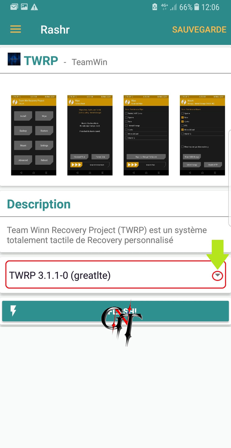 RECOVERY TWRP POUR NOTE 8 SM-N950F/D 2gnt10