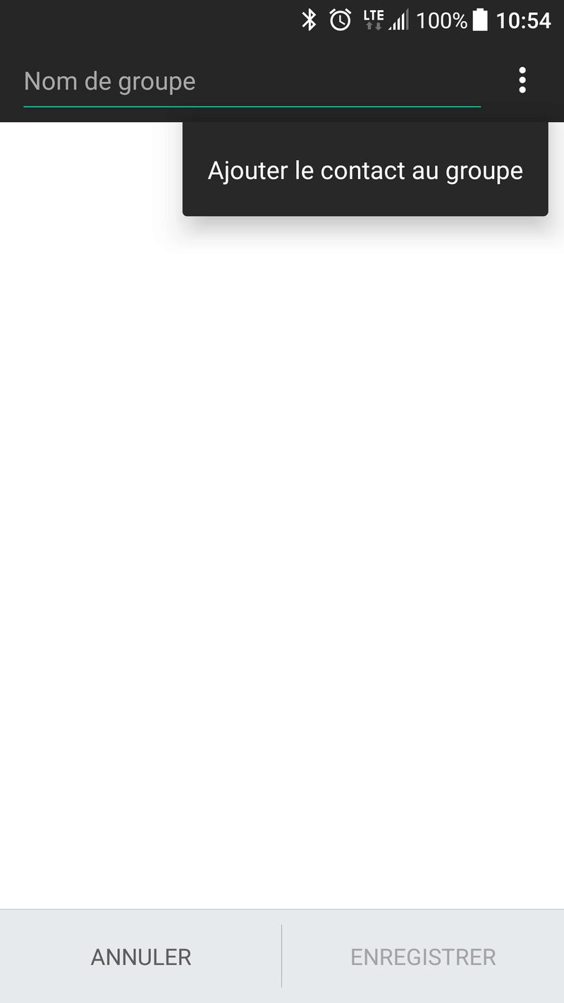 [Question] Définir une sonnerie / notification par groupe de contacte Screen10