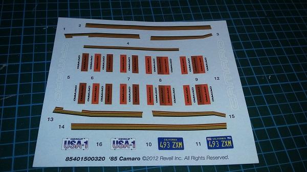 Camaro Z28 1985 Decals10