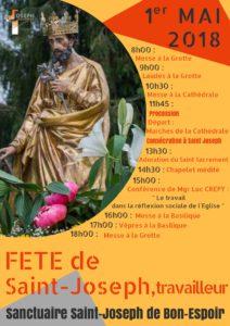 Pour ns préparer à la fête de St Joseph Travailleur le 1er mai.. Petite Neuvaine Affich10