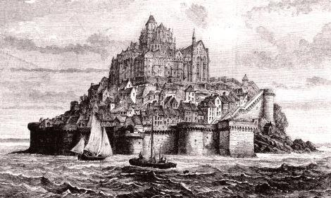 Mont-Saint-Michel  mont de discorde hérité du diable Mont_s10