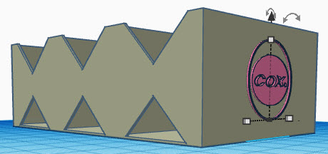 Cox Starter Battery Box Printable Templates 3d_bat10