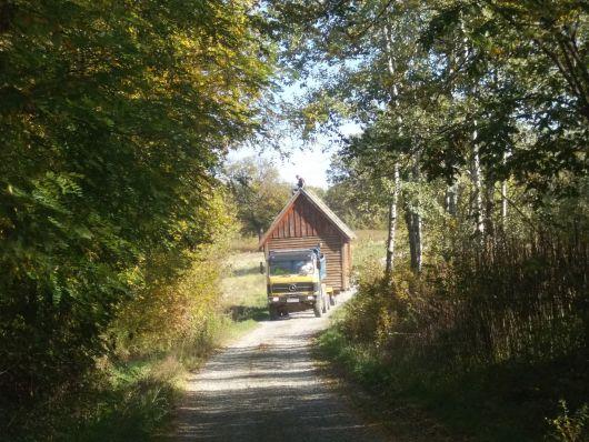 Transport drvene kuće na igralište Poljana A_tran10