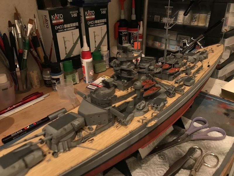 Bismarck 1/350 tamiya UP le 30/01/2018 montage terminé  - Page 2 014ddb10