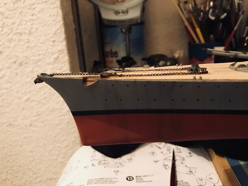 Bismarck 1/350 tamiya UP le 30/01/2018 montage terminé  099b2c10
