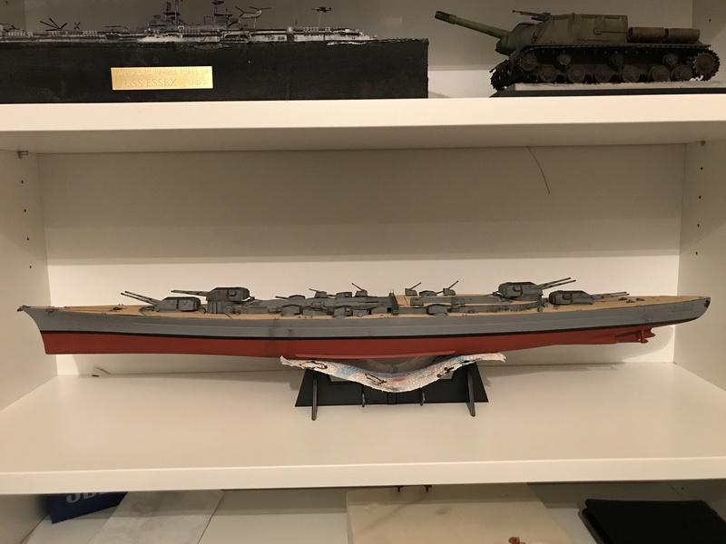 Bismarck 1/350 tamiya UP le 30/01/2018 montage terminé  15c23210