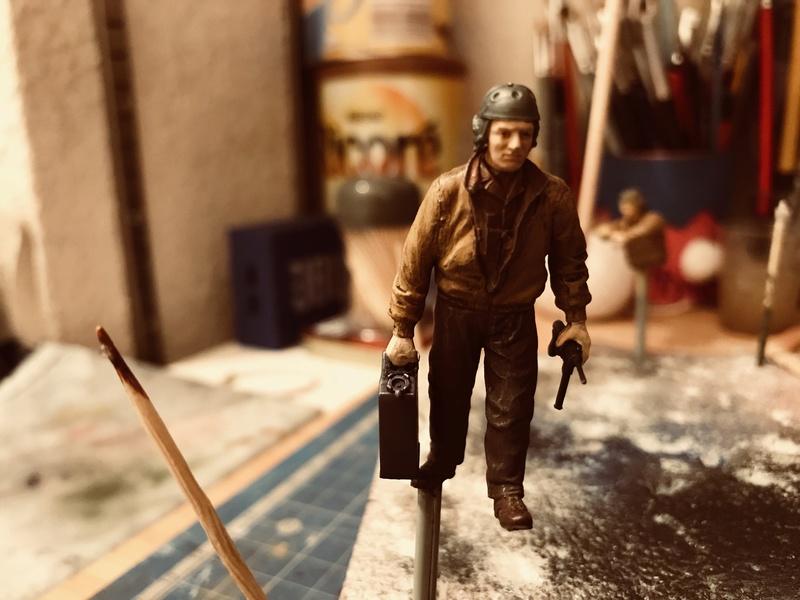 Diorama 1/35 Normandie 1945 sherman 63b28810