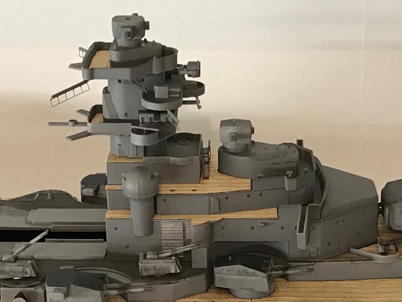 Bismarck 1/350 tamiya UP le 30/01/2018 montage terminé  64514110