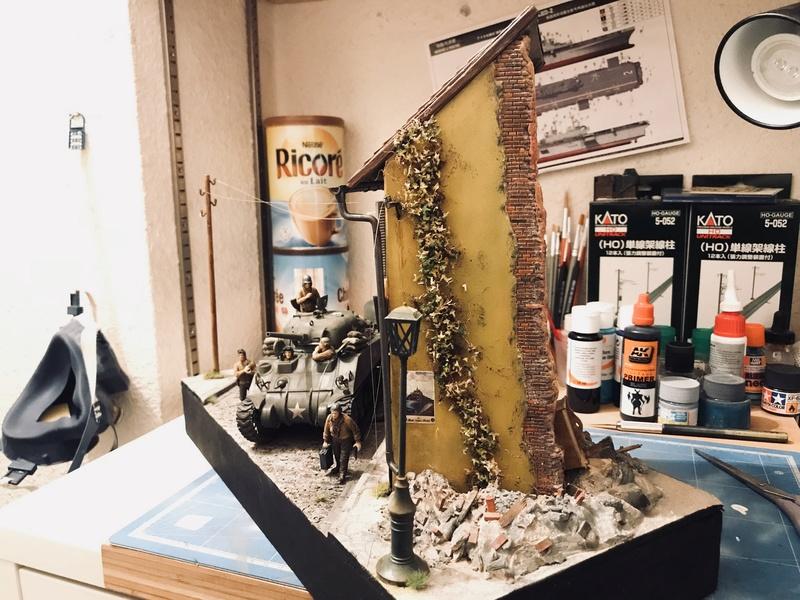 Diorama 1/35 Normandie 1945 sherman 9e493d10